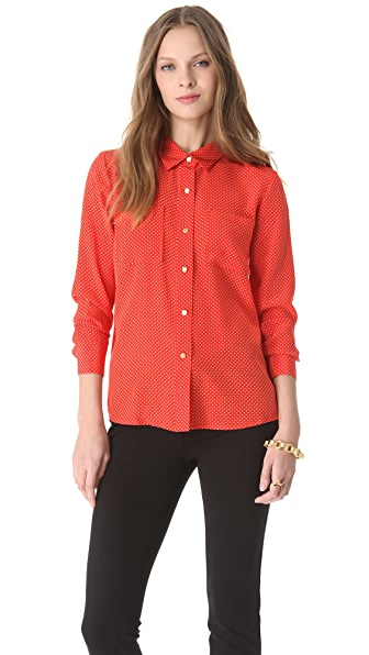 Juicy Couture Pin Dot Blouse