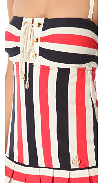 Juicy Couture Port Striped Swimsuit