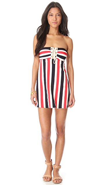 Juicy Couture Port Striped Cover Up Dress