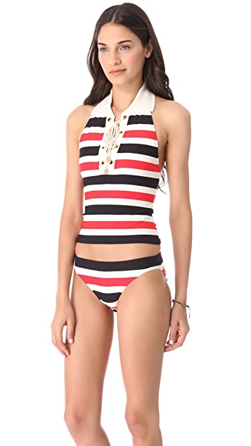 Juicy Couture Port Stripe Tankini Top