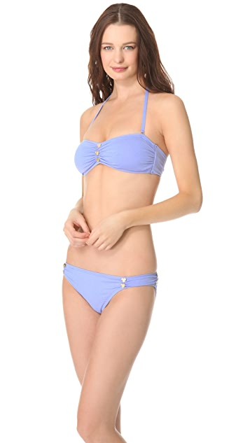 Juicy Couture Miss Divine Hearts Button Bikini Top