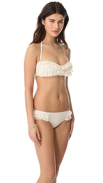 Juicy Couture Prima Donna Ruffle Bandeau Bikini Top