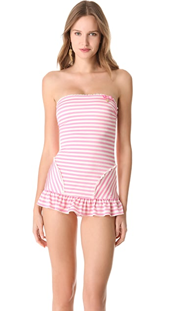 Juicy Couture Boudoir Stripe Swimsuit