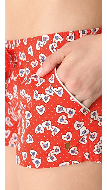 Juicy Couture Valentine Hearts Shorts