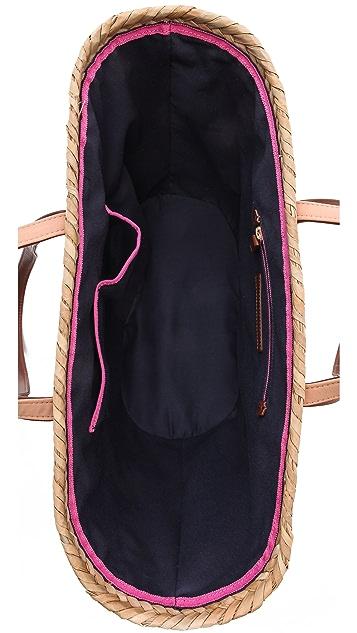 Juicy Couture Malibu Straw & Sequin Beach Tote