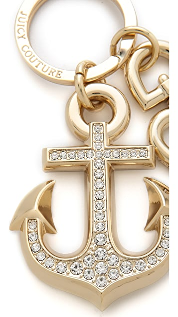 Juicy Couture Gold Anchor Keychain