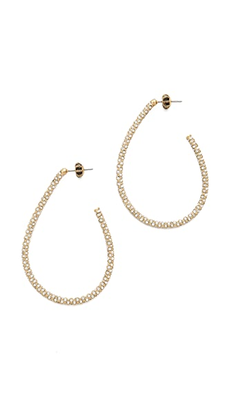 Juicy Couture Pave Teardrop Hoop Earrings