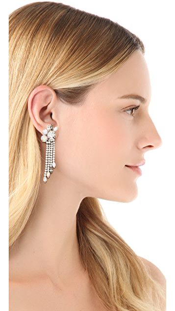 Juicy Couture Rhinestone Fringe Earrings