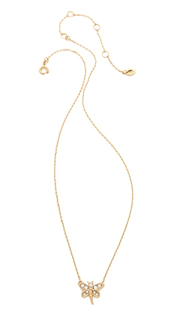 Juicy Couture Pave Dragonfly Necklace