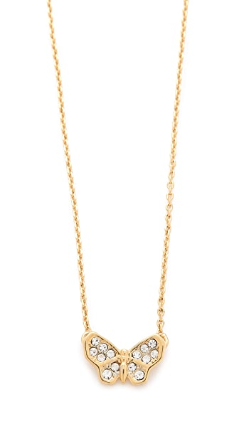 Juicy Couture Pave Butterfly Necklace
