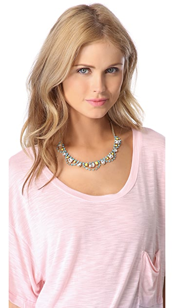 Juicy Couture Rhinestone Bib Necklace