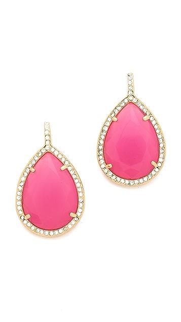 Juicy Couture Pave Teardrop Earrings