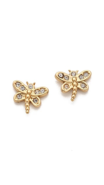 Juicy Couture Pave Dragonfly Stud Earrings