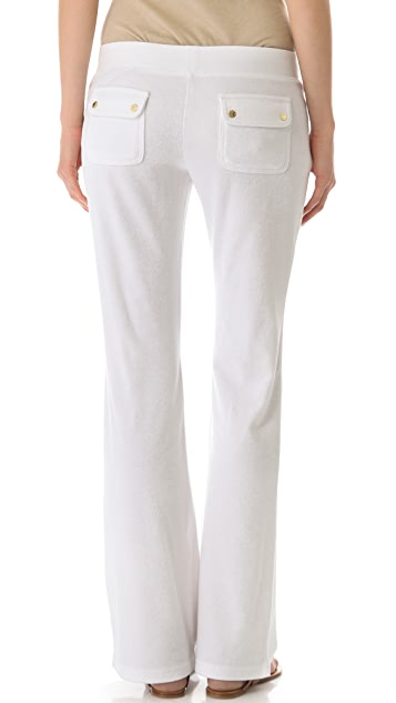 Juicy Couture Boot Cut Pants with Snap Pockets