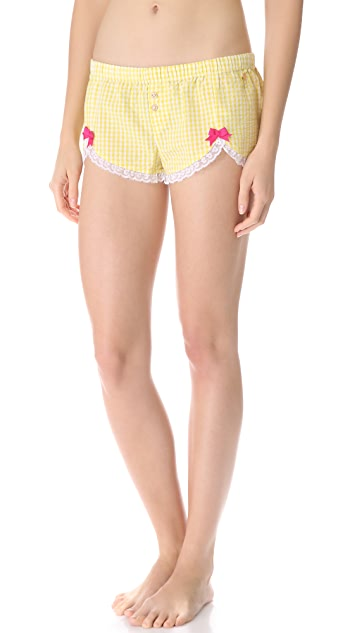 Juicy Couture Amour Pinup Gingham Shorts