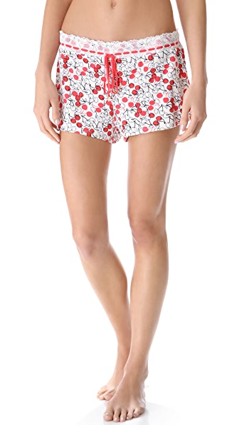 Juicy Couture Sketched Cherries Printed Shorts