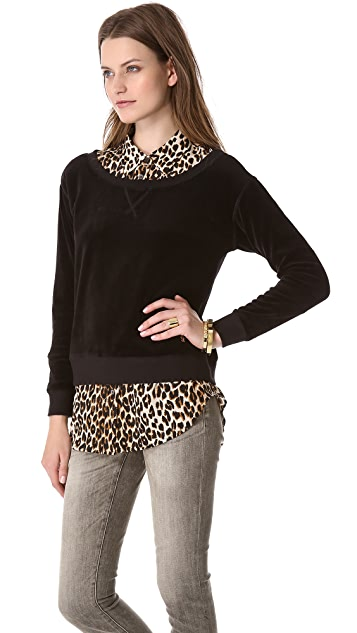 Juicy Couture Off Shoulder Sweatshirt