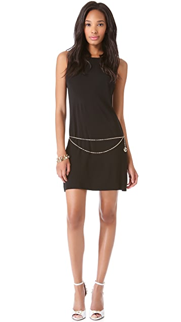 Juicy Couture Belted Matte Jersey Dress