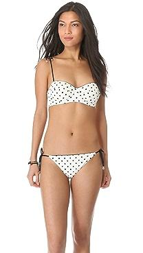 Juicy Couture Itsy Bitsy Polka Dot Bikini Top