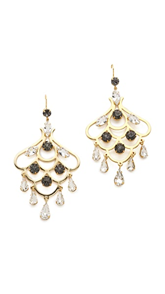 Juicy Couture Rhinestone Chandelier Earrings