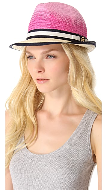 Juicy Couture Ombre Straw Fedora