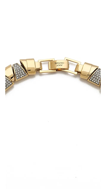 Juicy Couture Pave Triangle Collar Necklace