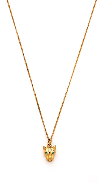 Juicy Couture Mini Leopard Necklace
