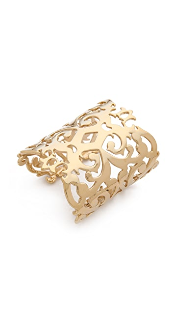 Juicy Couture Gold Openwork Wide Cuff
