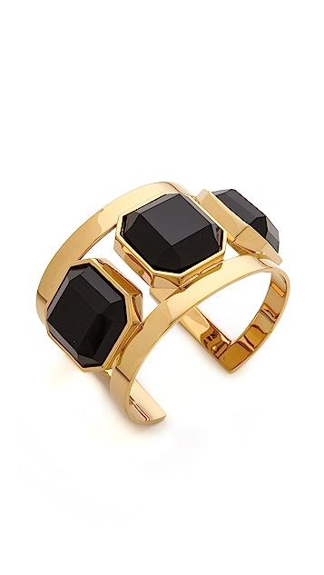 Juicy Couture Black Triple Stone Cuff Bracelet