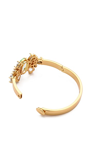 Juicy Couture Pear Cut Hinged Bangle Bracelet
