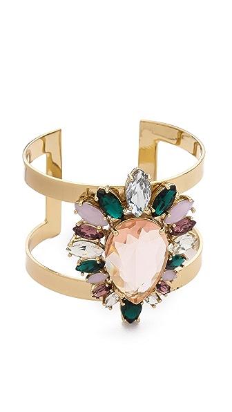 Juicy Couture Multi Stone Cluster Drama Cuff Bracelet