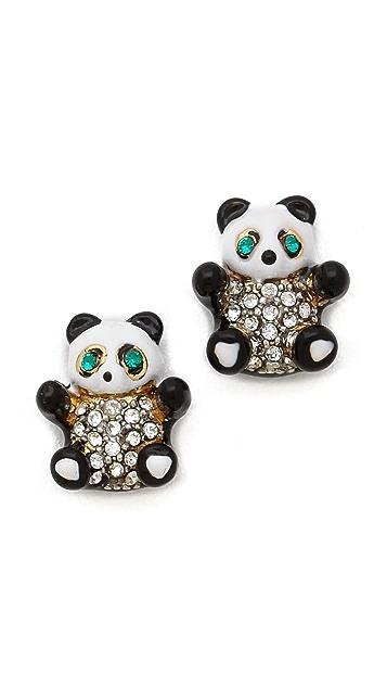 Juicy Couture Panda Bear Stud Earrings