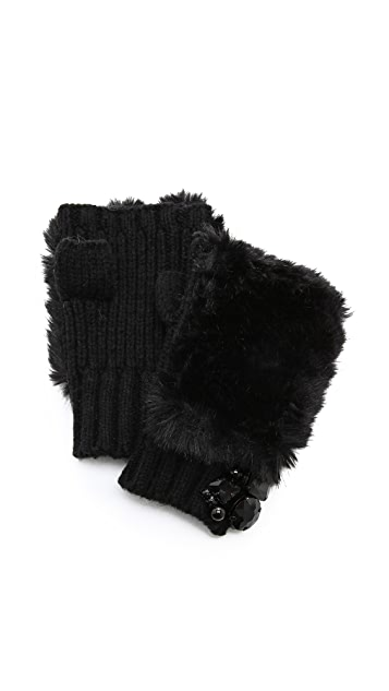 Juicy Couture Faux Fingerless Gloves