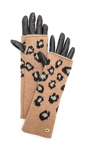 Juicy Couture Leopard Mitt Gloves