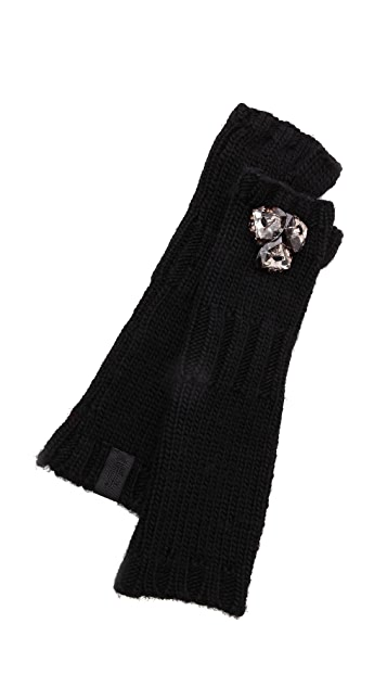 Juicy Couture Chunky Jewel Mittens