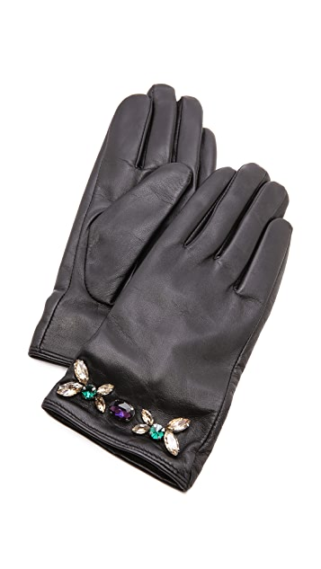 Juicy Couture Glamour Girl Leather Gloves