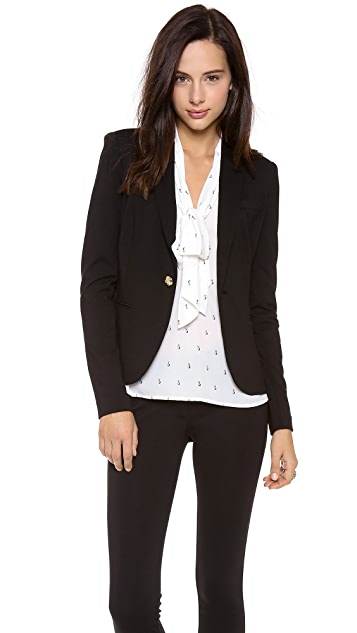 Juicy Couture Solid Ponte Blazer