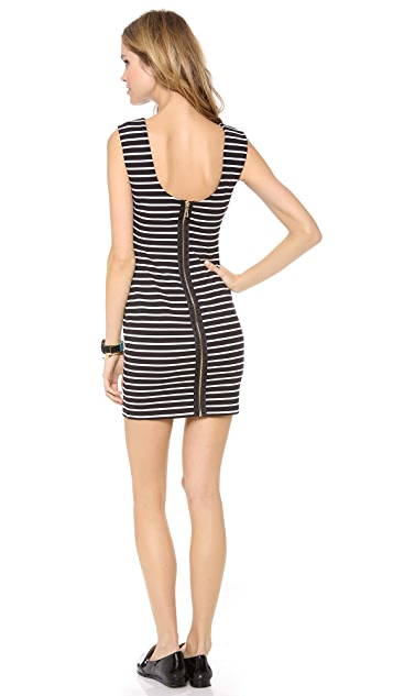 Juicy Couture Fitted Stripe Ponte Dress