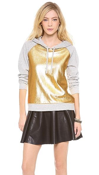 Juicy Couture Metallic Pullover Hoodie