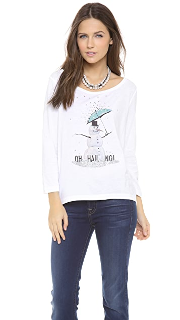 Juicy Couture Snowman Boat Neck Tee