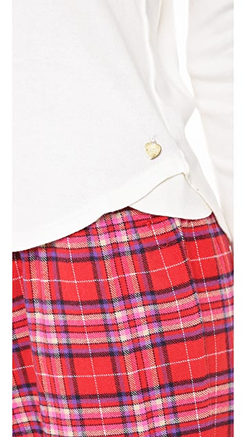 Juicy Couture Flannel PJ Henley Set