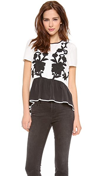 Juicy Couture Appliqued Top