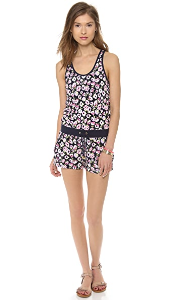 Juicy Couture Floral Terry Romper