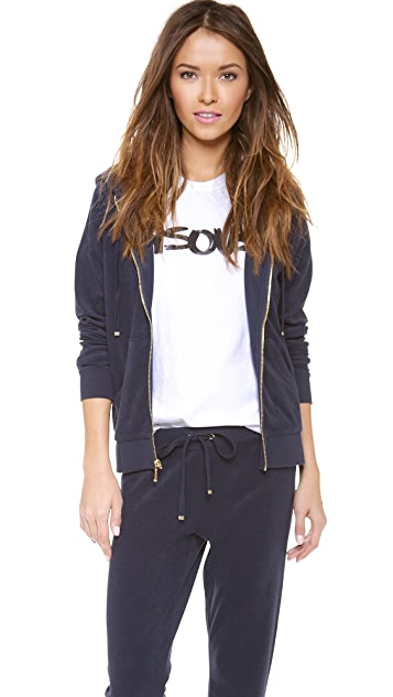Juicy Couture Micro Terry Relaxed Jacket