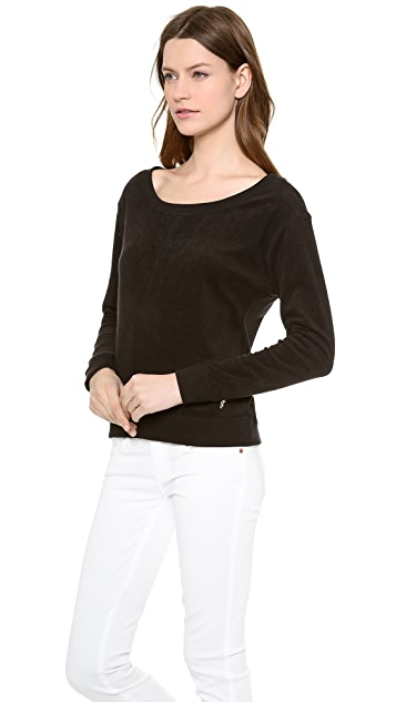Juicy Couture Micro Terry Relaxed Top