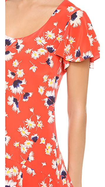 Juicy Couture Feather Floral Dress