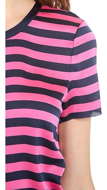 Juicy Couture Carnaby Stripe Zip Tee