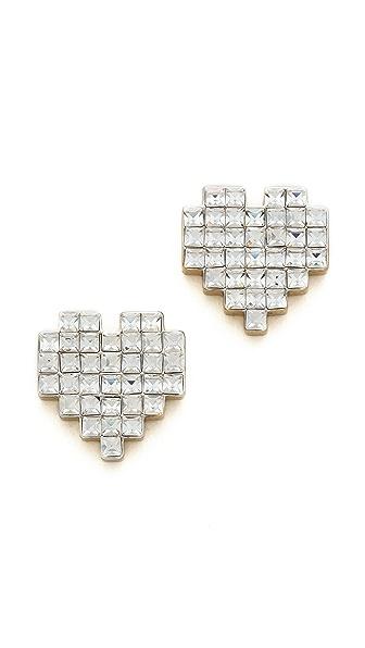 Juicy Couture Pixel Heart Stud Earrings