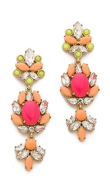 Juicy Couture Haute Hue Gemstone Chandelier Earrings