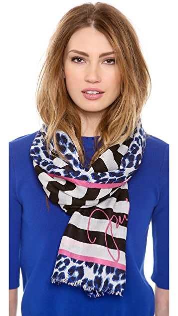 Juicy Couture Power Clash Feather Scarf